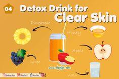 5 Best Detox Drinks for Clear Skin 2020 – Okey Bye Juice Drinks, Detox Drinks, Detox Water For Clear Skin, Detox To Lose Weight, Skin Detox, Best Detox, Moisturizer For Dry Skin, Face Skin, Good Skin