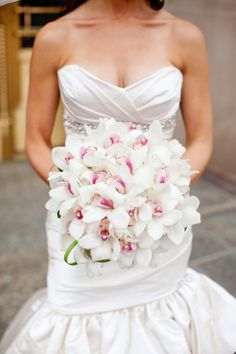 Orchid Bouquet  White and a little pink just for you :)