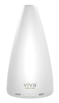 Viva Naturals Aromatherapy Essential Oil Diffuser - Vibrant Changeable LED Lights & Soothing Mist Automatic Shut Off