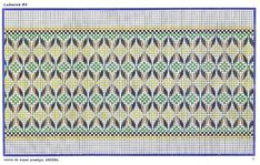 Mis pasiones passiflora: ESQUEMAS PUNTO YUGOSLAVO Swedish Embroidery, Monks Cloth, Swedish Weaving, Weaving Patterns, Bargello, Mardi Gras, Embroidery Stitches, Needlework, Quilts