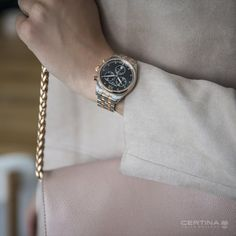The female face of contemporary timekeeping: the is the first ladies' watch with the innovative Powermatic 80 automatic movement with a power reserve up to 80 hours. Female Face, Woman Face, Ds, Chronograph, Watches, Contemporary, Accessories, Collection, Women