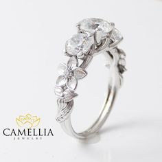 Special Reserved  14K Yellow Gold 3 Stone by CamelliaJewelry