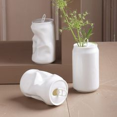 Porcelain Soda Can Vase – $16