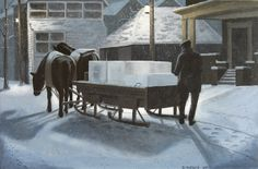 """""""Delivering Ice"""" from the city of Toronto archives circa 1924.    www.daverheaume.com"""