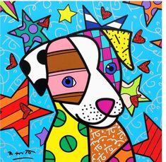 Romero Brito Arte Pop, Tiffany Kunst, Arts And Crafts Kits, Art Plastique, Dog Art, Art Lessons, Painting & Drawing, Art Projects, Art Drawings