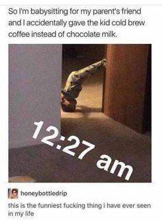 why you shouldn't give coffee to babies | TrendUso #coffee #coffeetime #chocolatemilk #chocolate #milk #kid #kids #night #LateNight #funny #hilarious #humor #humorous #meme #memes #memesdaily #lol #wtf #omg #rofl