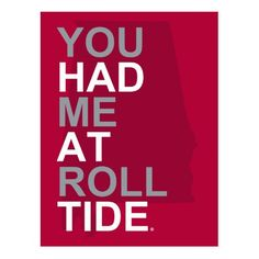 Valentine's Day Party Invitations Alabama You Had Me At Roll Tide Postcard