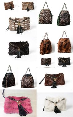 mink & fox fur bags !!!