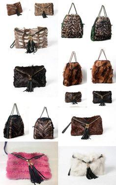 mink & fox fur bags !!!