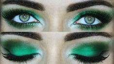 Emerald forest green smokey eye makeuptutorial | Sigma beauty Holiday 2018-2019 Viper collection | MakeupAndArtFreak Hazel Eye Makeup, Dramatic Eye Makeup, Glitter Eye Makeup, Colorful Eye Makeup, Blue Eye Makeup, Green Eyeshadow Look, Green Smokey Eye, Smokey Eyes, Makeup For Green Eyes