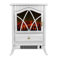 Freestanding 400 Square Foot Electric Fireplace Stove Heater
