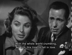 Excited for casablanca in the theater
