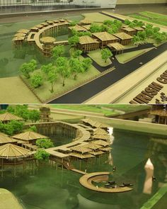 "Thesis Project by Kamrun Nahar Juthi ""Eco Tourism Complex at Sunderban( the Largest Mangrove Forest),Shatkhira, Bangladesh "" Thesis… Concept Models Architecture, Architecture Model Making, Bamboo Architecture, Futuristic Architecture, Architecture Design, Rome Architecture, Computer Architecture, Landscape Model, Landscape Design"