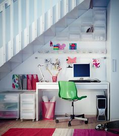 home office under stairs design ideas