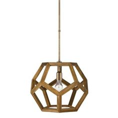Lauren by Ralph Lauren Honeycomb Wood Lantern