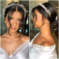 Amazing Wedding Makeup Tips – Makeup Design Ideas Wedding Makeup Tips, Natural Wedding Makeup, Bride Makeup, Hair Makeup, Makeup Hairstyle, Wedding Beauty, Natural Makeup, Bride Hairstyles, Down Hairstyles