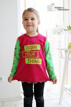 Basic Shirt für Mädchen by #allerlieblichst