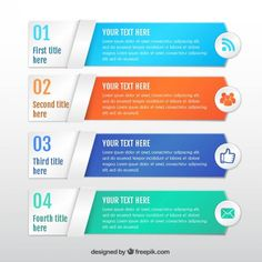 Colored infographic banners template I Free Vector