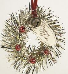fun to make these vintage tinsel ornaments...