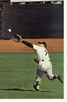Mickey's save of Larsen's  Perfect Game in 1956  World Series