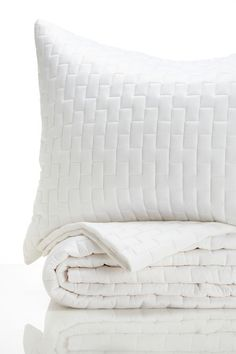 Simple Pleasures Bed and Bath  Queen Brick Coverlet Set - White  $139.00