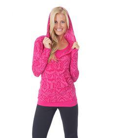 Look at this #zulilyfind! Pink Henna Taylor Zip-Up Hoodie by Soybu #zulilyfinds