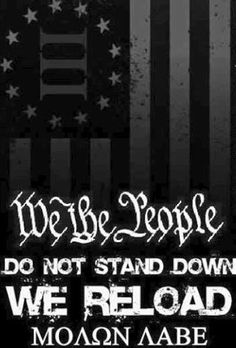 We the people… Patriotic Words, Patriotic Quotes, Stand Down, Molon Labe, Gun Rights, Dont Tread On Me, 2nd Amendment, God Bless America, We The People