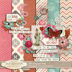 All About Me mini kit freebie from Digital Scrapbook Ingredients (via Real Life Scrapped)