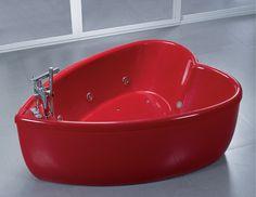 heart shaped acrylic tub... sweet or too precious?