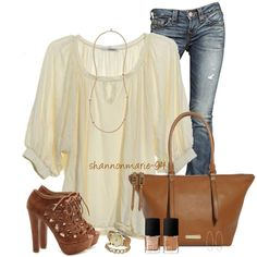 """Camel and Ivory"" by shannonmarie-94 on Polyvore"