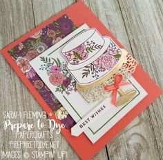 Coming soon! Stampin' Up! handmade wedding cake card using Cake Soiree, Sweet Cake Framelits, and Sweet Soiree Memories & More Card Pack - FREE item in Sale-A-Bration 2018 - starts January 3 - Sarah Fleming - Prepare to Dye Papercrafts