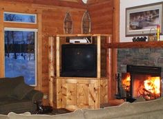 Cabin vacation rental in McCall at Spring Mountain Ranch. Adjacent to golf course.  3 bedrooms, 2 baths.  215. and 75.