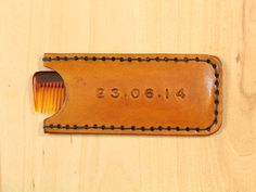 Special Date Comb Case  Leather Comb Case  by TinasLeatherCrafts. Repin To Remember.