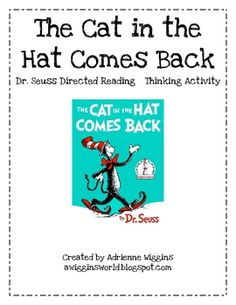 A detailed five day Dr. Seuss DRTA for the book The Cat in the Hat Comes Back with activity sheets. Dr Seuss Activities, Teaching Activities, Teaching Ideas, Dr Seuss Week, Dr Suess, Dr Seuss Author, Read Across America Day, 2nd Grade Reading, Speech Language Therapy