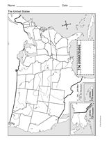Map Of The United States Geography Printable 1st 8th Grade