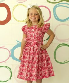 Another great find on #zulily! Hot Pink Wildflower Jane Dress - Infant, Toddler & Girls by Kayce Hughes #zulilyfinds