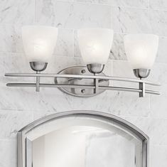 "Possini Deco Nickel Collection 23 1/2"" Wide Bath Light"