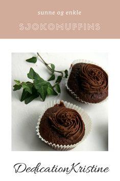 Sukkerfrie sjokomuffins med herlig sjokoladeglasur fra DedicationKristine | Oppskrift sjokolademuffins | Oppskrift kake | Sukkerfri oppskrift | Hverdagsinspirasjon | Bake sukkerfritt