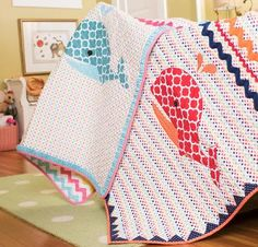 You'll have a whale of a time sewing this adorable quilt top! Your Wally the Whale Appliqué Kit includes a pattern and soft, pre-quilted fabric to sew this 40 Boys Nautical Bedroom, Nautical Quilt, Pre Quilted Fabric, Quilted Gifts, Cot Quilt, Quilt Top, Flower Quilts, Machine Quilting, Quilting Fabric