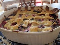 Red, White and Blue - Triple Berry Cobbler – Easy for the 4th of July!
