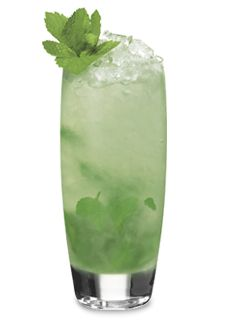 Home Team Mojito (1 Part Pucker Sour Apple Schnapps 1 Part Cruzan Light Rum 1/2 Part Simple Syrup 1/2 Part Lime Juice 1 Part Soda Water 14 Sprigs of Mint)