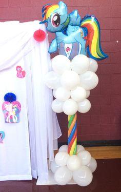 My little pony balloon column shellysdecor4you@live.com