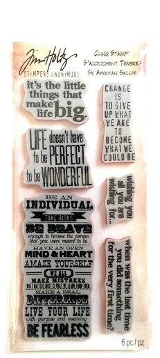 Tim holtz, phrases 1