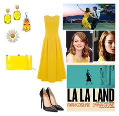 """La La Land Inspired"" by artybunbun on Polyvore featuring Warehouse, Christian Louboutin, Effy Jewelry, Kevin Jewelers and Rocio"