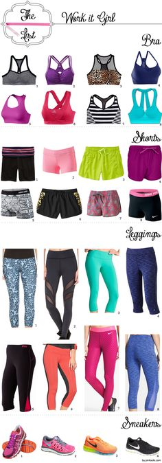 Cute Workout Clothes | Work It Girl | Workout Gear - okay I want everything