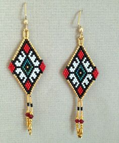 Ukrainian Earring by beadedbear on Etsy