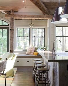 """Perfect lake house.  Also the """"New to @nordstom"""" picks + a hostess gift guide on Beckiowens.com today.  @kristinacrestindesign"""