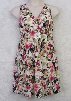 Womens MAURICES Floral Empire Waist Keyhole Back Bubble Hem Dress Size 5-6 #Maurices #EmpireWaistBubble #CasualCocktail