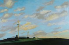 """Andalusian Windmills by Chris Graebner.  On Friday, June 27th, from 6-9pm, the Hillsborough Gallery of Arts will host the opening reception for """"Intersections: Painter, Potter, Painter""""; Pottery by Garry Childs, paintings by Chris Graebner and Jude Lobe. The show runs through July 20th.  www.HillsboroughGallery.com"""