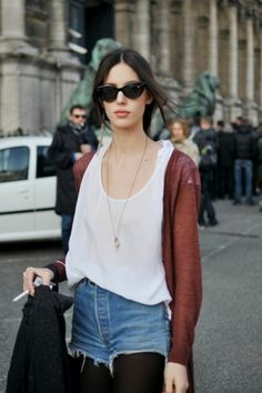 Ruby's at it again... aces. #RubyAldridge #offduty in cutoffs & a tank. Paris.